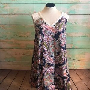 Paisley Print with Lace sundress